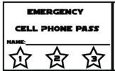 Emergency Cell Phone Use Punch Cards - Star Wars Theme