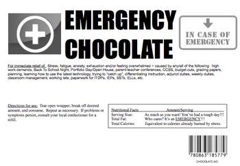 Emergency Chocolate Wrapper