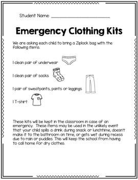 Emergency Clothing Kit