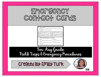 Emergency Contact Cards