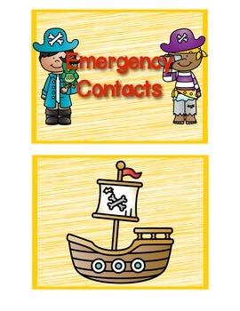 Emergency Contact Flip Books