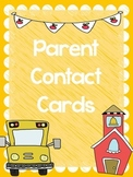 Emergency Contact Information Cards