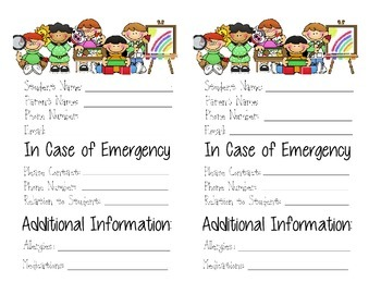 Emergency Contact Update Form