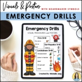 Emergency Drill Posters (Boardmaker Symbols)