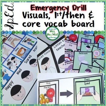 Emergency Drill Visuals: Rules & First/Then