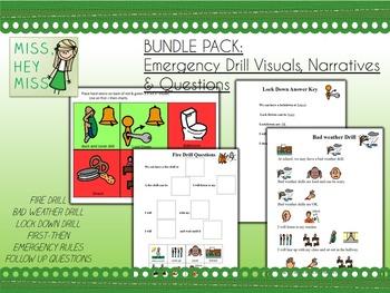 BUNDLE PACK Emergency Drill Visuals, Narratives & Questions