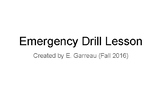 Emergency Drills Lesson