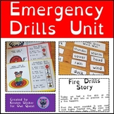 Emergency Drills: Stories, I Can Statements, Folder Games,