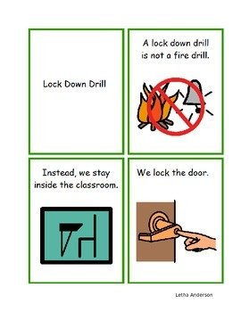 Emergency Drills- fire, tornado, earthquake, intruder NOT just Autism