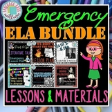 Emergency ELA Lesson Plan BUNDLE