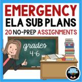 ELA Emergency Sub Plans No-Prep Maternity Leave Lesson Plans | 4th 5th 6th grade