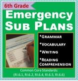 ELA: Emergency Sub Plans - 6th Grade