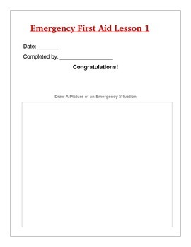 photo about First Aid Printable identify Unexpected emergency Very first Support Lesson Analyze Printables