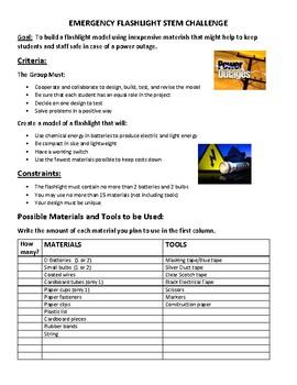 Emergency Flashlight STEM Challenge