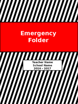 Emergency Folder for Teachers