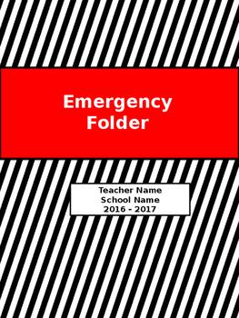 Emergency Folder for Teachers