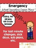 Emergency Fourth Grade Lesson: Kindness