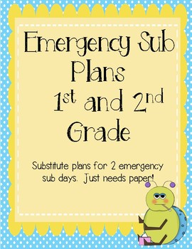 Emergency Substitute Plans (2 days)