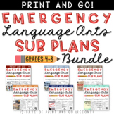 ELA Emergency Sub Plans Bundle Grades 4-8