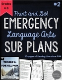 ELA Emergency Sub Plans for Grades 4-8 Set #2