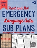 ELA Emergency Sub Plans for Grades 4-8 Set #3