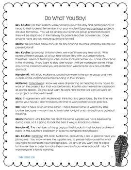 ELA Emergency Sub Plans for Grades 4-8 Set #5