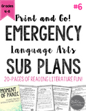 ELA Emergency Sub Plans for Grades 4-8 Set #6