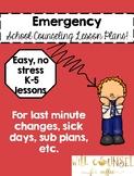 BUNDLE Emergency Lesson Plans: Kindness