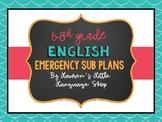 Emergency Lesson Plans: ELA 6th-8th Grade