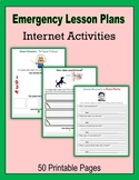 Emergency Lesson Plans:  Internet Activities