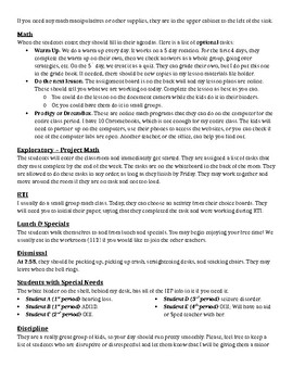 Emergency Lesson Plans for Middle School Math