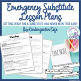 Emergency Lesson Plans for a Substitute Teacher