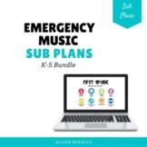 Emergency Music Sub Plan Bundle {Google Slides™}