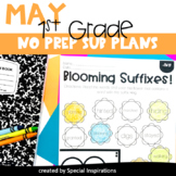 Emergency No Prep Sub Plans For 1st Grade (May)