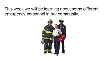 Emergency Personnel Lesson