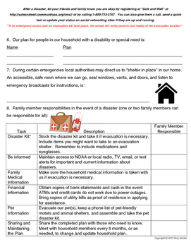 emergency preparedness family disaster plan assignment by tacy salcido