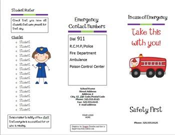 Emergency Procedures Pamphlet {Editable}