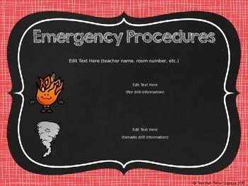 FREE Emergency Procedures Sign (Editable)
