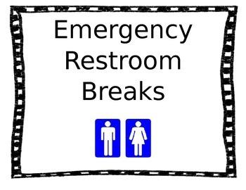 Emergency Restroom Poster