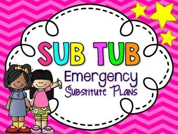 Emergency SUB TUB Label {bright colors}