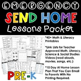 Distance Learning Emergency Send Home Lesson Plans for Pre