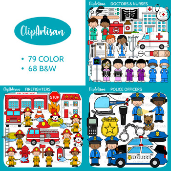 Community Helpers Clip Art, Important Occupations