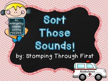 Emergency Sounds sorting FREEBIE!