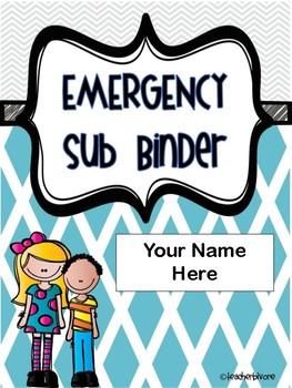 Emergency Sub Binder Editable