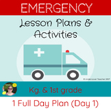 Emergency Sub Lesson Plans No Prep Kindergarten & 1st Gr.