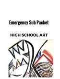 Emergency High School Art Sub Packet