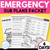 Sub Plans for Emergency Sub Days Grades 1-2