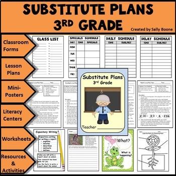 Substitute Lesson Plans Grade 3