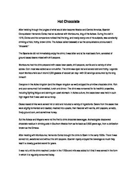 Emergency Sub Plan #1: Hot Chocolate