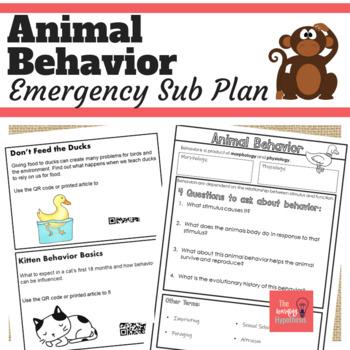Emergency Sub Plan.  Animal Behavior